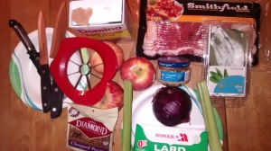 Ingredients for Bacon, Apple, Stuffed, Chops